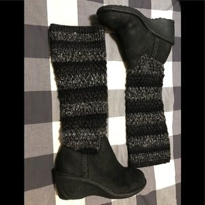UGG Cresthaven kit wedge knit  boots